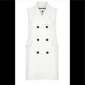 Top Shop Raw Edge Sleeveless Jacket